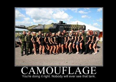 Com uma camuflagem assim nunca encotrarão o tanque que me disseram que tem nessa foto.
